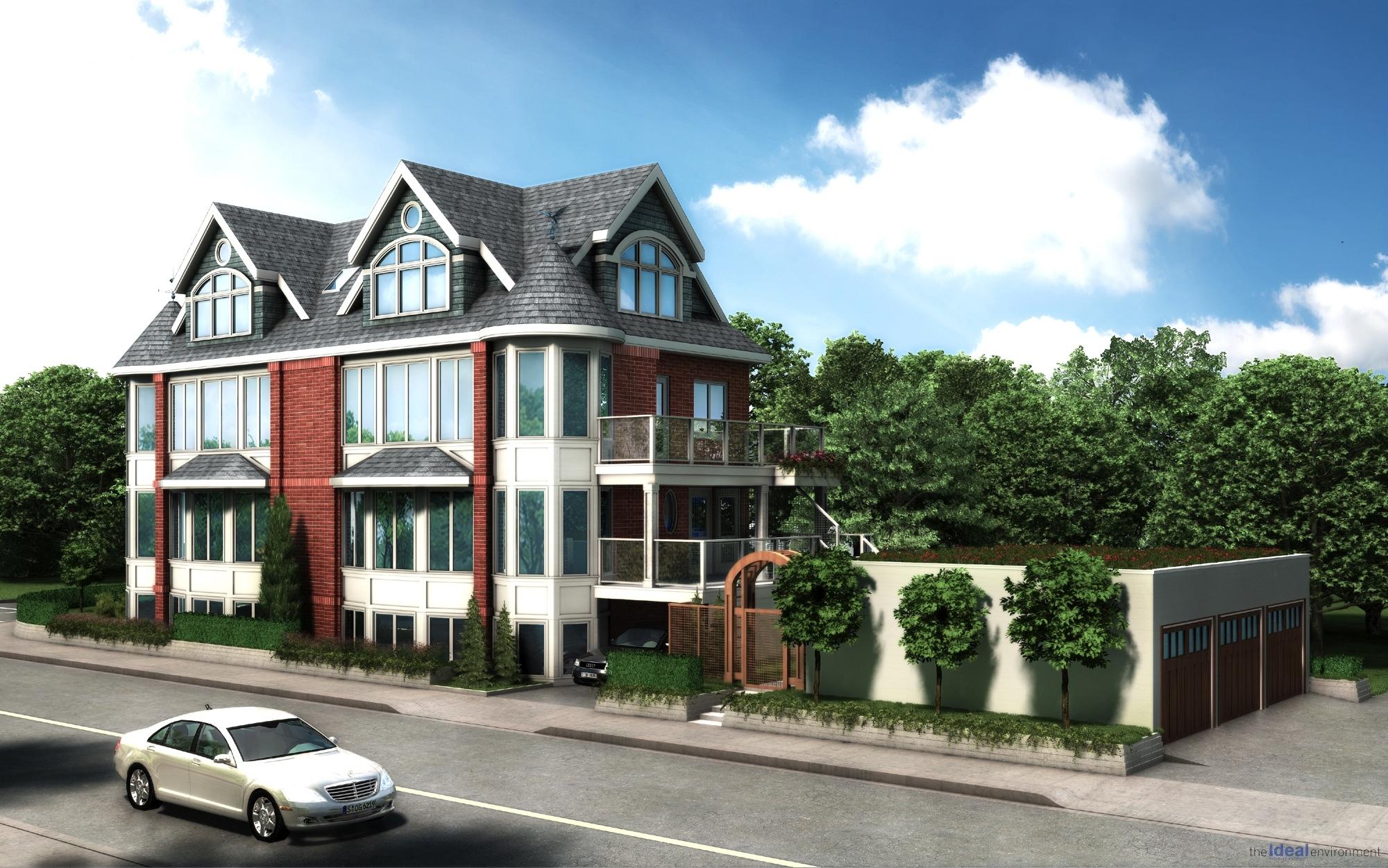 Kew Beach House Condominium Waterfront Render