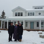 Construction Progress - Brian Lee and Marilyn Lake with Clients