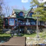 Lake Muskoka Cottage Exterior View from Dock