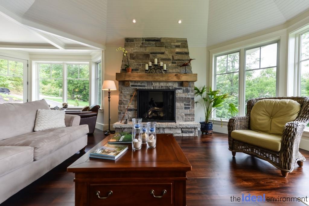 Chemong Lake Country Home Fireplace