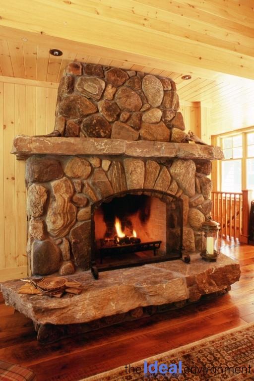 Bigwin Island Cottage Fireplace Detail