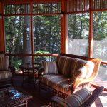Kennisis Lake Cottage 3 Gazebo Interior