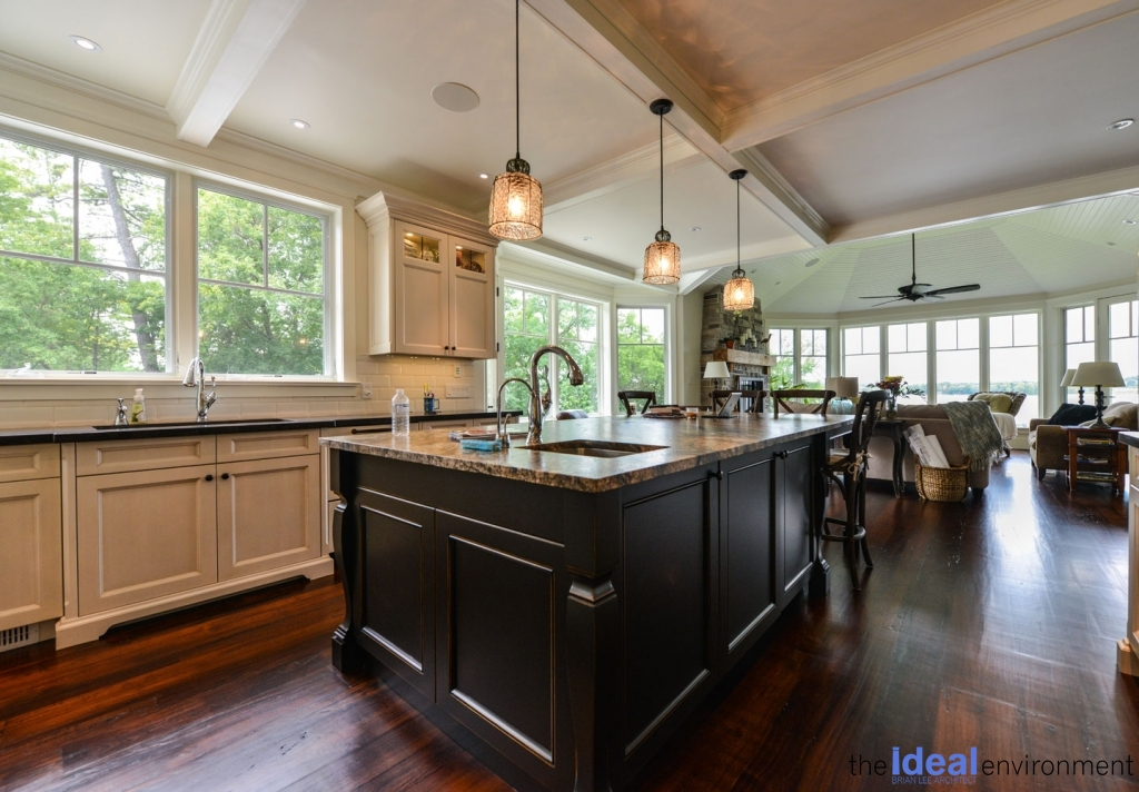 Chemong Lake Country Home Kitchen Island