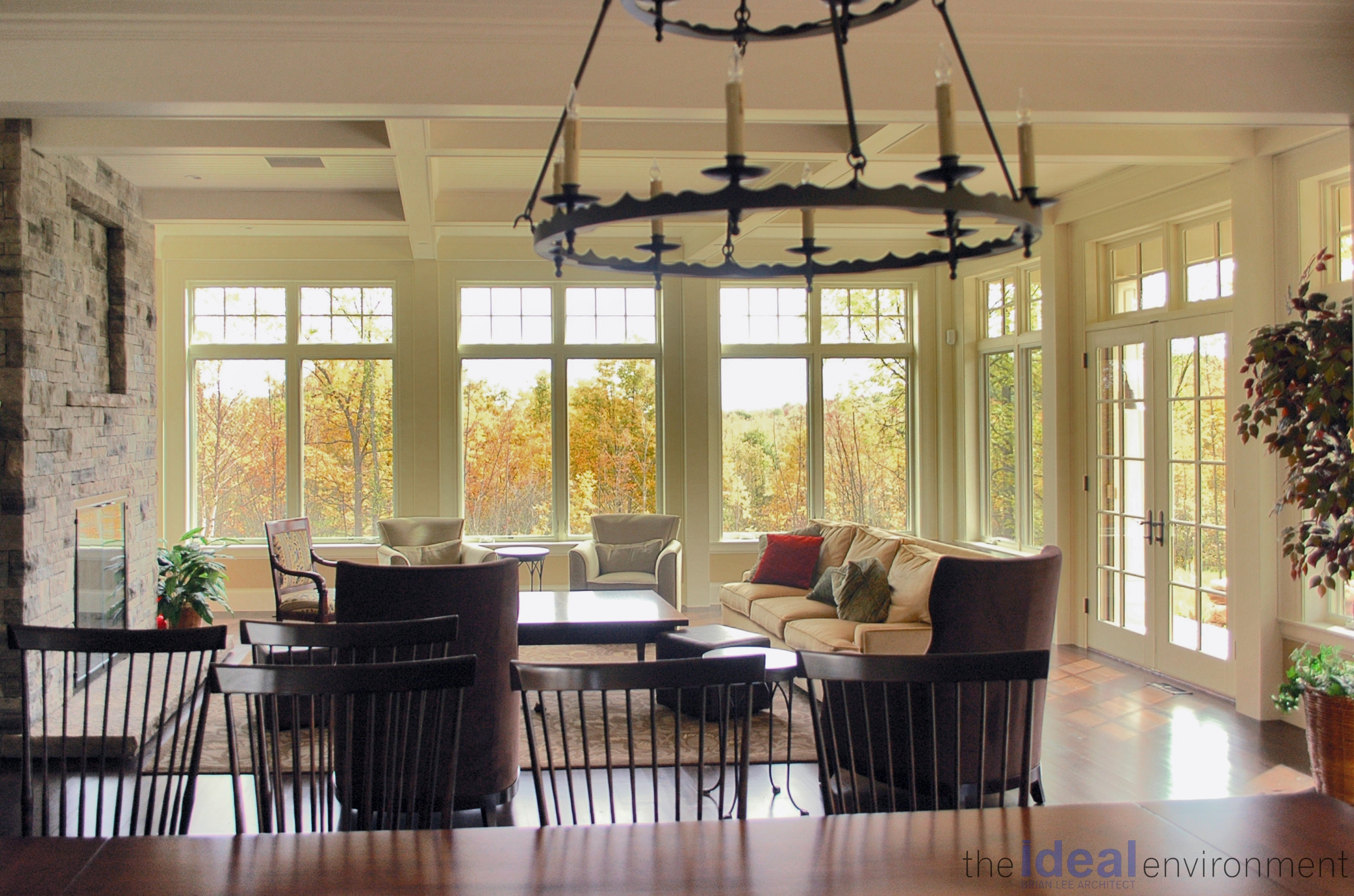 Terracotta Country Home Living Room