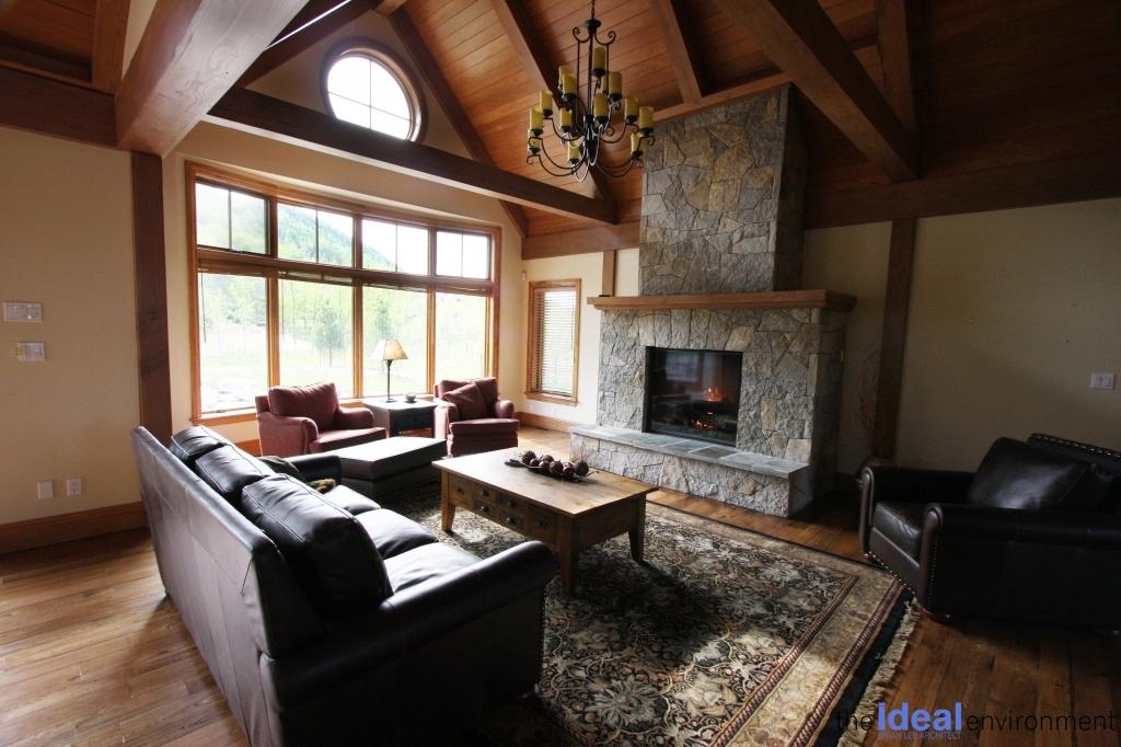 Lake Joseph Cottage Addition Living Room