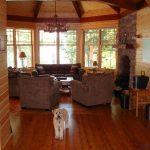 Kennisis Lake Cottage 3 Living Room View