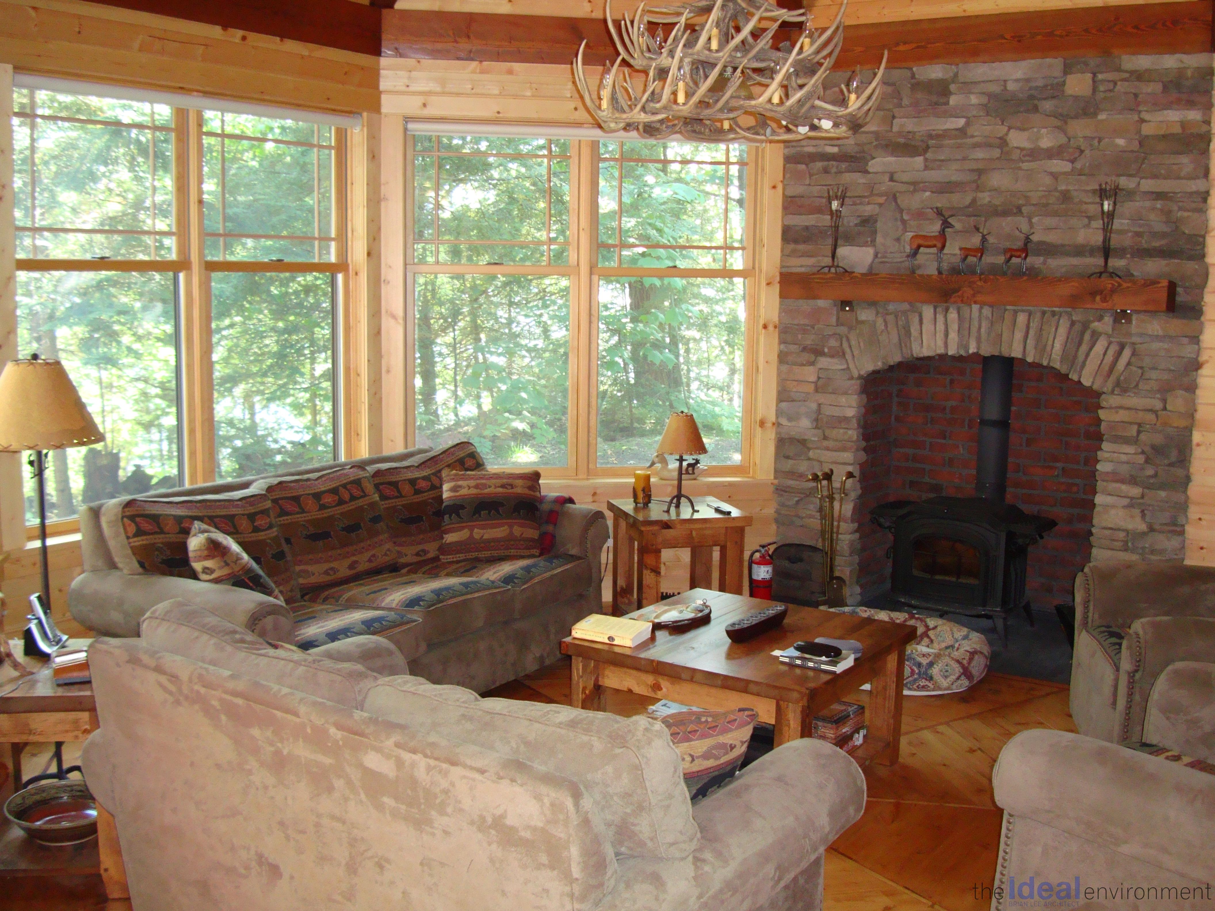 Kennisis Lake Cottage 3 Living Room