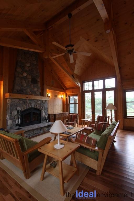 Muldrew Lake Cottage Living Room