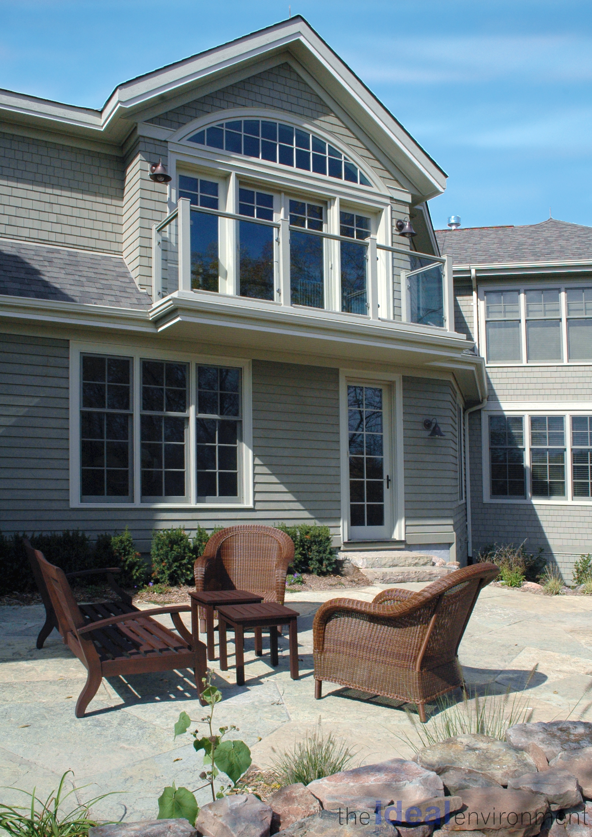 Terracotta Country Home Pond Deck